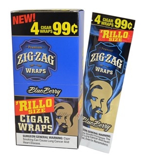 ZIG ZAG RILLO - BLUE BERRY WRAPS