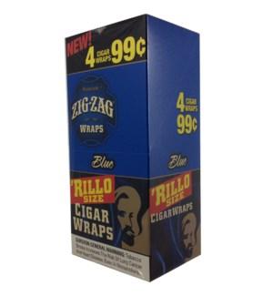 ZIG ZAG RILLO - BLUE WRAPS