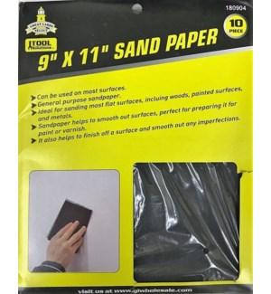 SANDPAPER #180904 10PC ASST