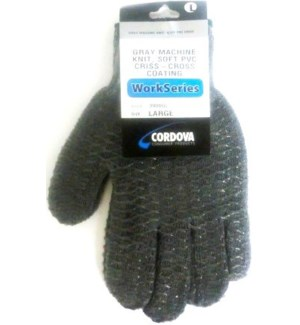 GLOVES #4707G LG HONEYCOMB/GRAY
