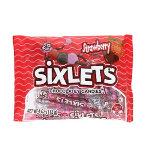 SIXLETS #93613 STRAWBERRY CHOCO CANDY BAG