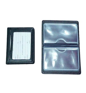 CARD HOLDER #17895 W/BLACK WINDOW