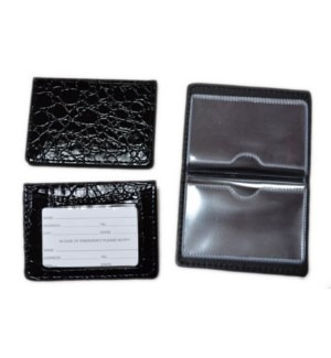 ID HOLDER #17905 BLACK SNAKE SKIN