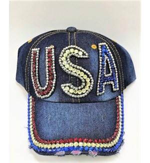 JEAN CAP #18440 W/STONE USA