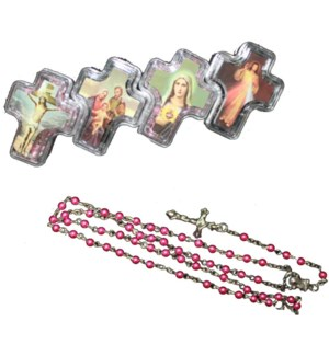 ROSARY #29128 IN CROSS CONTAINER