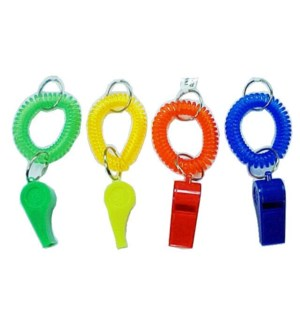 COILED KEYCHAIN WHISTLE #66220