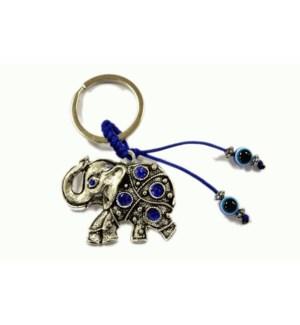 KEYCHAIN #68106 EVIL EYES ELEPHANT