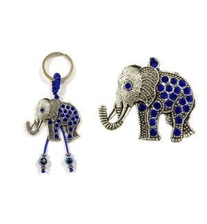 KEYCHAIN #68131 EVIL EYES ELEPHANT