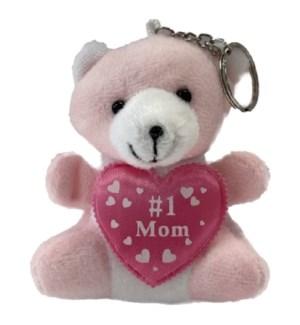 MOM DAY #68892 PINK BEAR KEYCHAIN/#1MOM