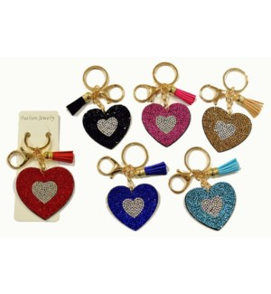 KEYCHAIN #69008 BLING HEART