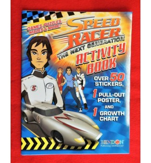 ACTIVITY/COLORING BOOK #3313 SPEED RACER