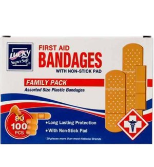 LUCKY #4100 FIRST AID BANDAGES