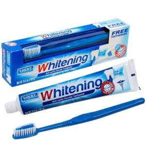 LUCKY #10687 TOOTHPASTE W/BRUSH WHI