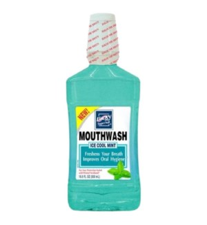 LUCKY MOUTHWASH #10898 ICE COOL MINT ALCOHOL FREE