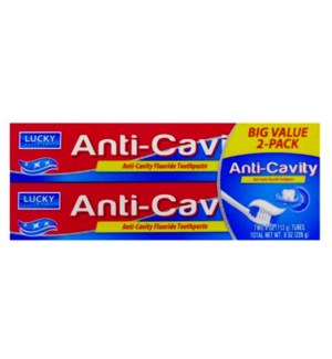 LUCKY T'PASTE #11198 ANTI CAVITY TWIN PACK