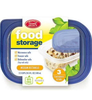 HOME SELECT #11345 FOOD STORAGE CONTAINERS RECTA