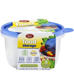 HOME SELECT #11346 FOOD STORAGE CONTAINERS ROUND
