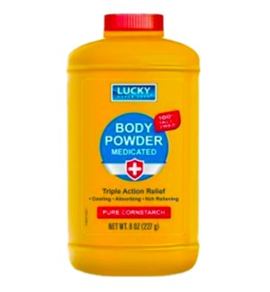 LUCKY POWDER #11366 MEDICATED PURE CORNSTARCH BODY