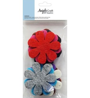 AC #FTS-001 FELT FLOWER SHAPE CARD 10PC