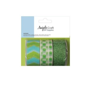 AC #ERT-019 CRAFTING TAPE GREEN & WHITE