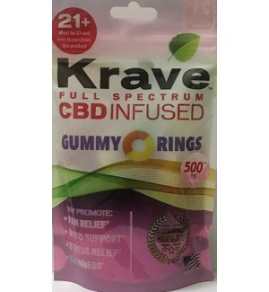 KRAVE GUMMY RINGS CBD INFUSED