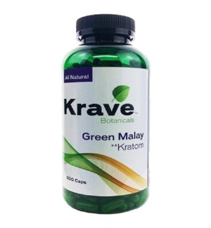 KRAVE GREEN MALAY KRATOM 500CT