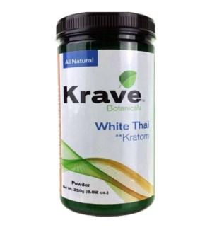 KRAVE WHITE THAI KRATOM 250G