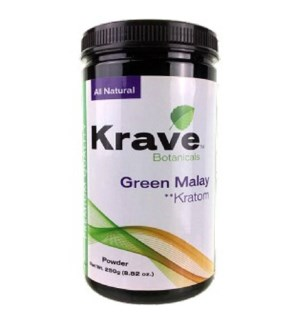 KRAVE GREEN MALAY KRATOM 250G