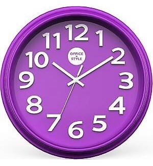 CLOCK #22314 PURPLE OFFICE STYLE