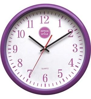 CLOCK #22369 PURPLE OFFICE STYLE