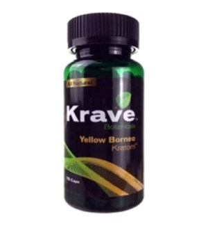 KRAVE YELLOW BORNEO KRATOM 75CT