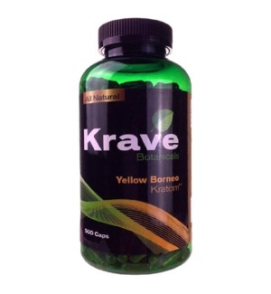 KRAVE YELLOW BORNEO KRATOM 500CT
