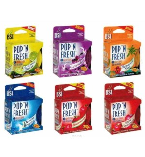 B.S. #1633PDQ POP'N FRESH GEL AIR FRESH.