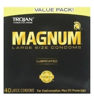 TROJAN 1CT MAGNUM BLACK CONDOMS