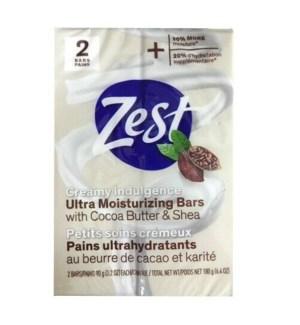 ZEST BAR SOAP #2060 COCOA BUTTER & SHEA