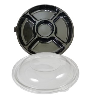 DISPOSABLE TRAY #61414 W/LID CHIP & DIP FAMILY MAI