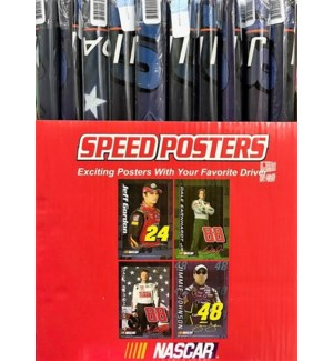 NASCAR SPEED POSTERS COUNTER DISPLAY