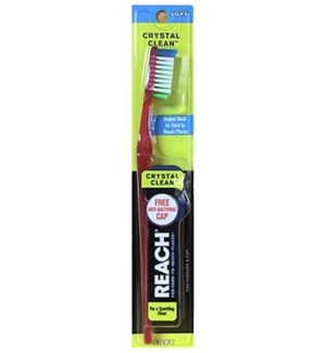REACH TOOTHBRUSH #10 SOFT, CRYSTAL CLEAN