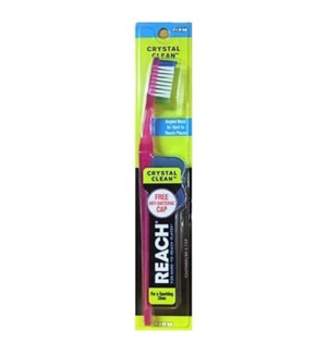 REACH TOOTHBRUSH #12 FIRM, CRYSTAL CLEAN