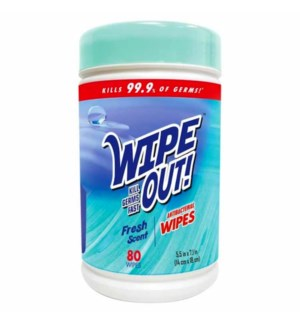 WIPE OUT! #50828 FRESH SCENT ANTIB WIPES