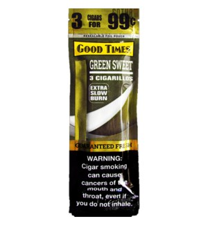 G.T CIGARS GREEN SWEET 3FOR $0.92