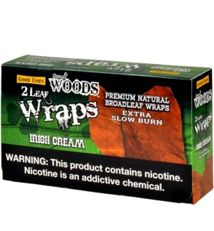 WOODS WRAPS LEAF IRISH CREAM