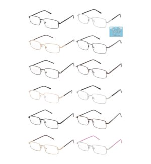 READING GLASSES #AMTLRG3 +2.75 METAL