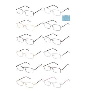READING GLASSES #AMTLRG3+3.25 METAL
