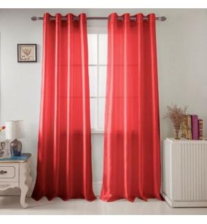 NANCY #PNN03077 WINDOW CURTAINS RED