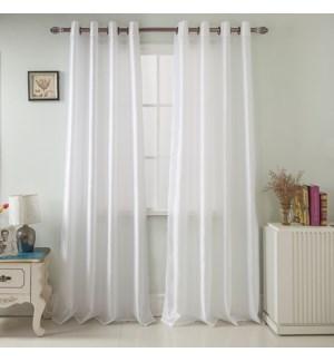 NANCY #PNN03097 WINDOW CURTAINS WHITE