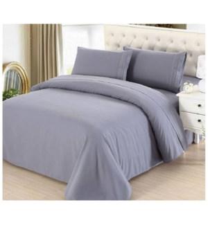 DT BED SHEET SET GREY/KING