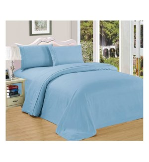 DT BED SHEET SET LIGHT BLUE/QUEEN