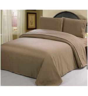DT BED SHEET SET BROWN/KING