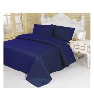 DT BED SHEET SET NAVY/QUEEN
